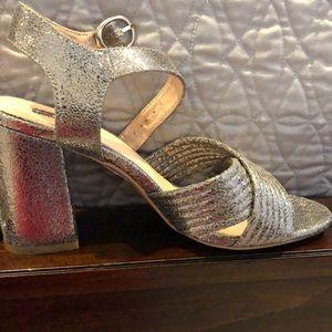 TopShop Metallic leather sandals